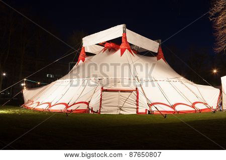 Big Top Circus Tent At Night