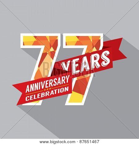 77Th Years Anniversary Celebration Design.