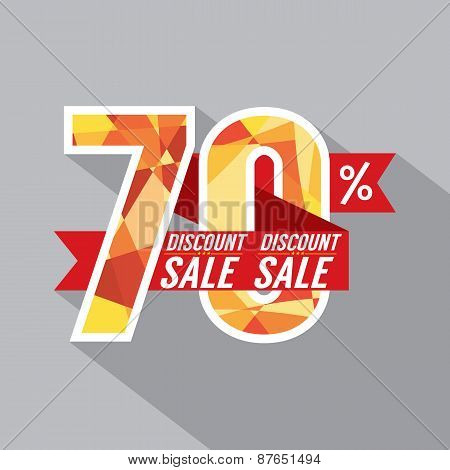 Discount 70 Percent Off.