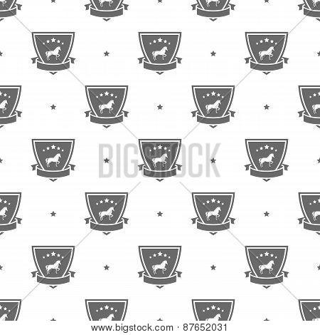 horse logo pattern