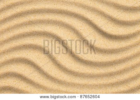 Sand beach background with wind wave