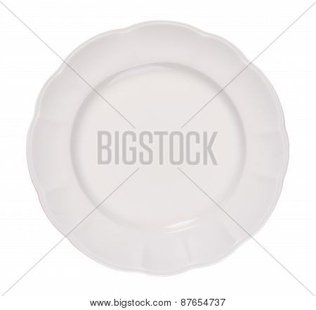 Empty Ceramic Plate On A White Background