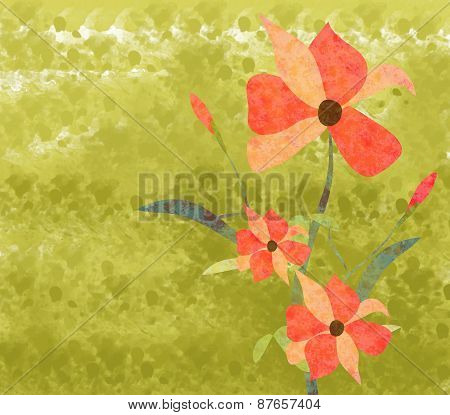 Flowers Watercolor Background