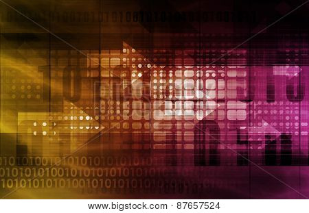 Binary Abstract Background with Lines Only