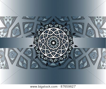 Ethnic border with mandala