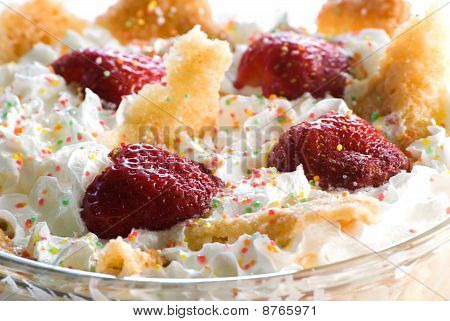 Strawberry Dessert With Whipped Cream