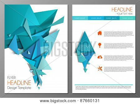 Abstract geometric flyer design template