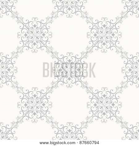 Seamless floral pattern wallpapers in the style of Baroque