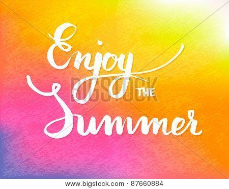 Summer calligraphical design element for poster or flyer