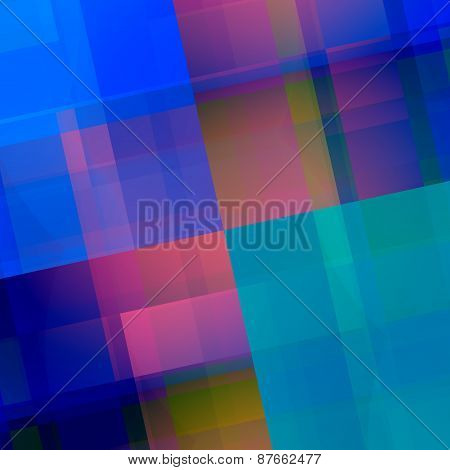 Blue pink geometric background. Abstract backdrop design. Elegant art illustration with blocks.