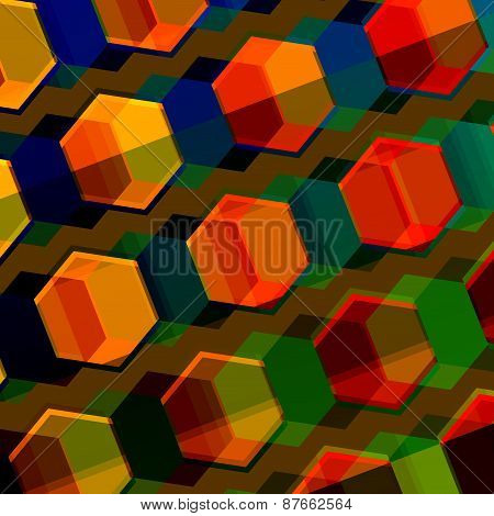 Colorful abstract composition. Modern geometric background. Digital style pattern. Flat graphic.