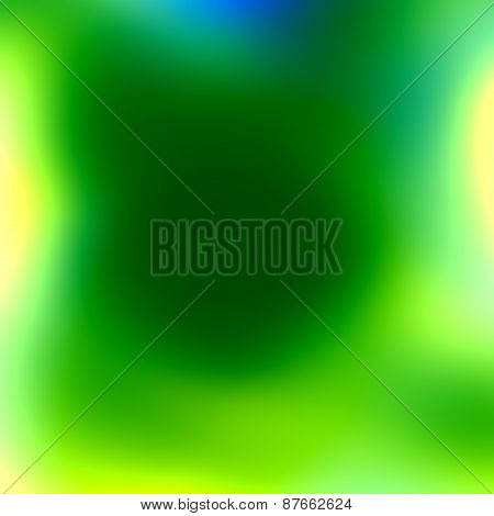 Soft green blue white blur. Fresh clean effect. Abstract spring background. Simple illustration.