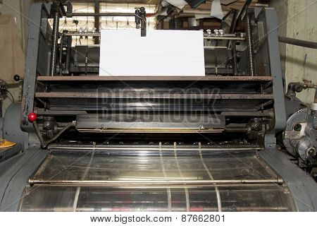 Printing Machine in Printing Shop