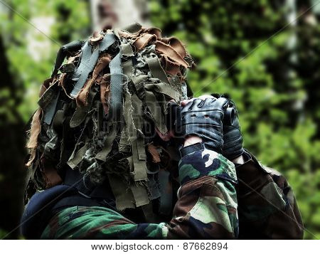 Airsoft Recon With Masked Camouflage
