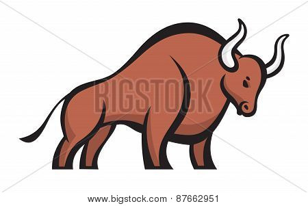 Bull - vector logo concept illustration. Buffalo sign.