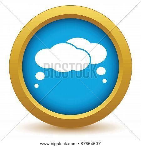 Gold dialog icon