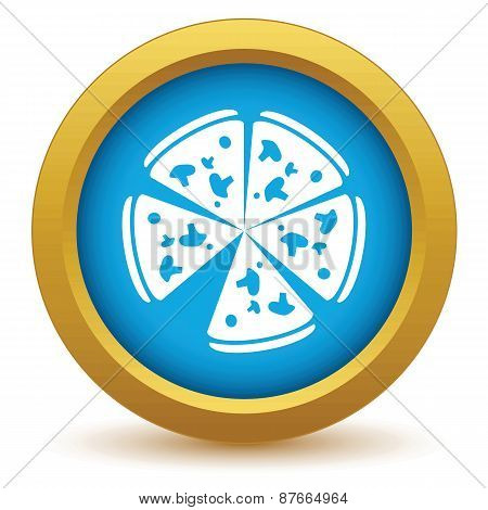 Gold pizza icon