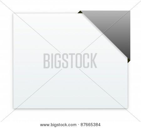 The Rectangular Box With Blank Grey Corner