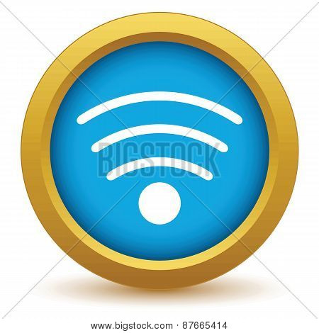 Gold wi-fi icon