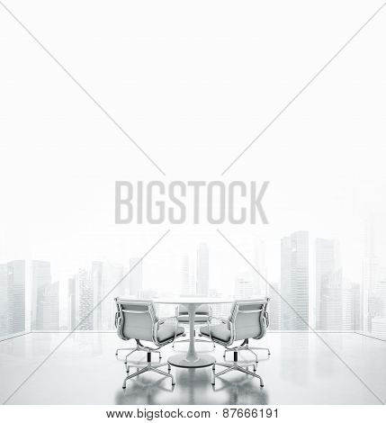 White Meeting Room With Place For Text