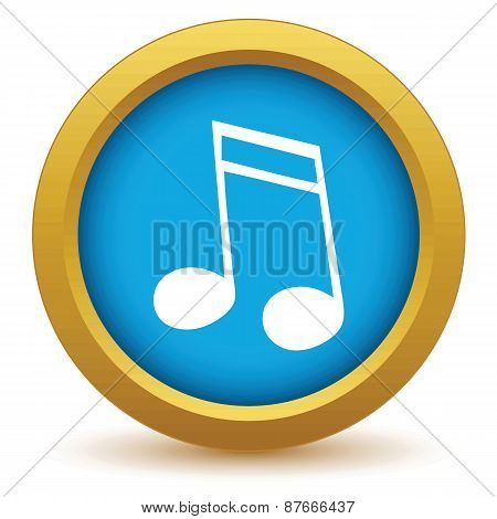 Gold note icon