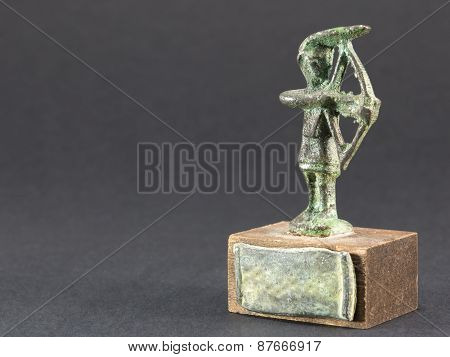 Archer Bronze Figurine, Arrow And Bow Statuette