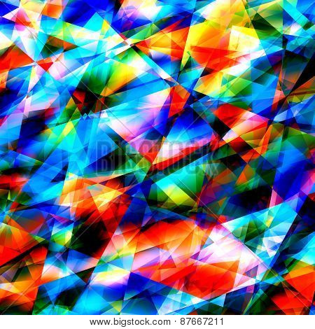 Colorful geometric art background. Cracked or broken glass. Modern polygonal illustration. Pattern.