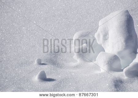 clumps of snow, winter bsckground