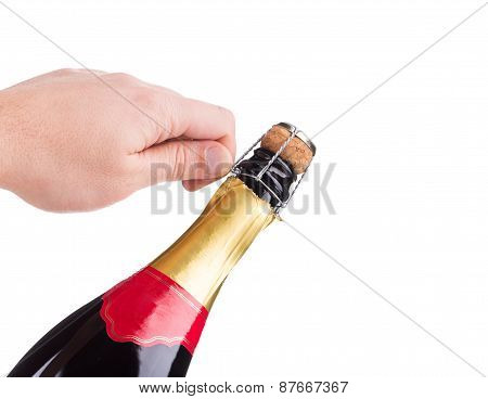 Champagne opening.