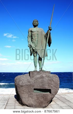 Guanches chief Ajona at Candelaria, Tenerife