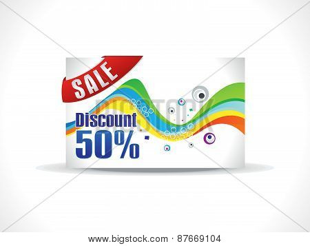 Abstract Colorful Rainbow Discount Card