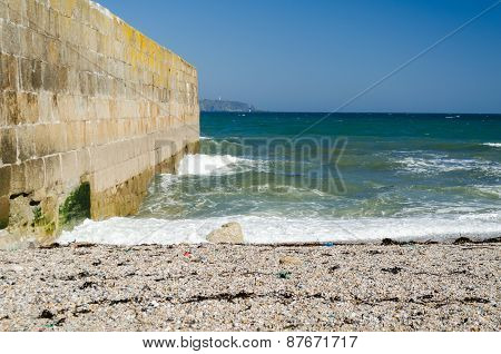 Seascape Pebble Beach Harbor Wall Blue Sky
