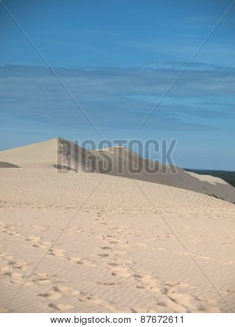 On Top Of Dune Of Pyla, Arcachon, France During Summer