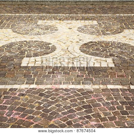Vanzaghello Street  Lombardy Italy  Varese  Curch And Marble