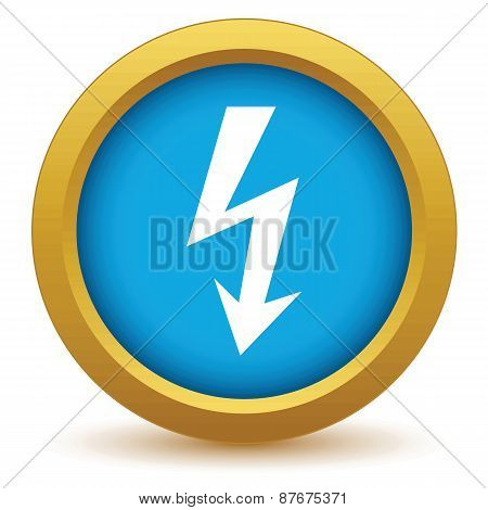 Gold lightning icon