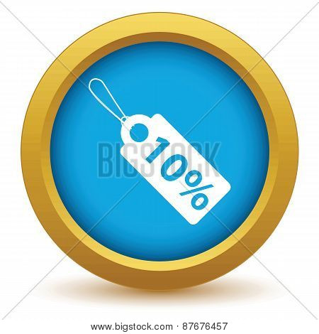 Gold discount icon