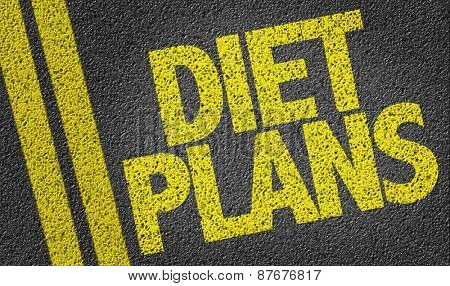 Diet Plans written on the road