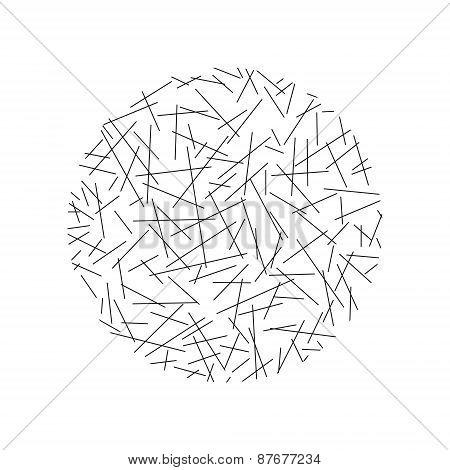 Circle of random lines