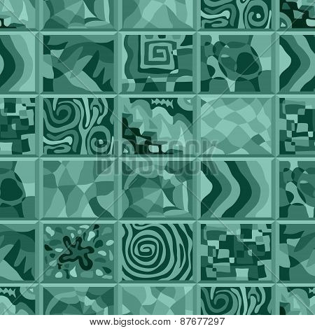 Abstract Seamless Pattern Consisting Of Many Unusual Stories.