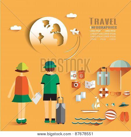 World Travel Business Design Infographic . Vector illustration