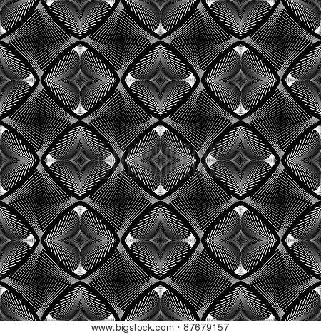 Design Seamless Diamond Striped Geometric Pattern