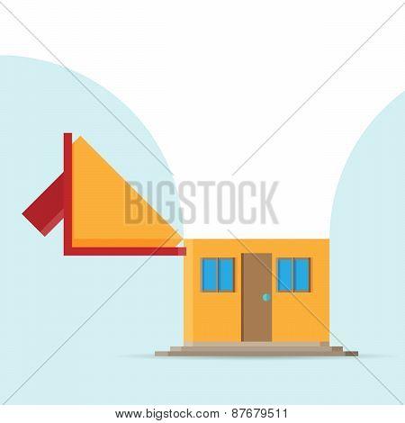 Open Top House Copyspace
