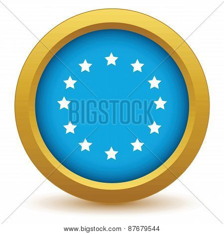 Gold European Union icon