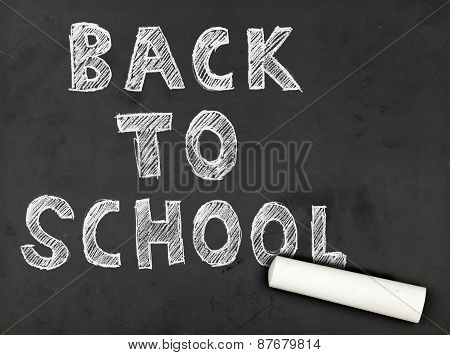 Back To School Chalk Writing