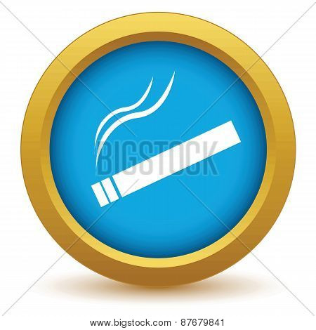 Gold cigarette icon