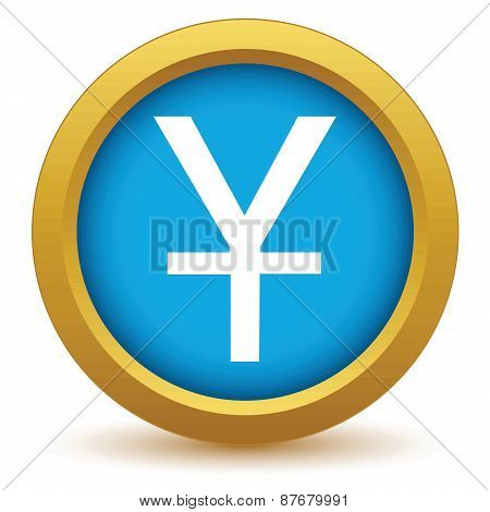 Gold currency yen icon