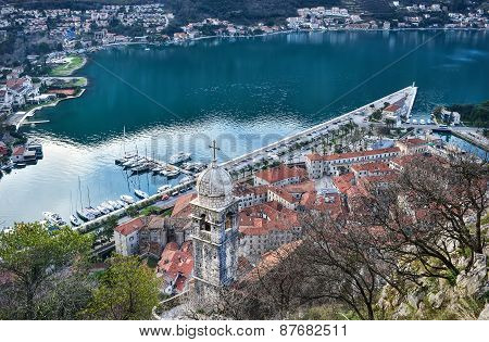The View Over The Town Of Kotor, Montenegro, The Old Chapel, The