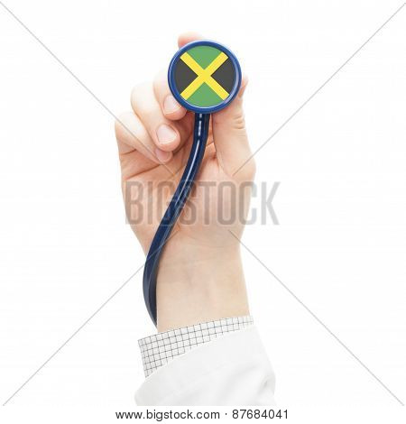 Stethoscope With National Flag Series - Jamaica