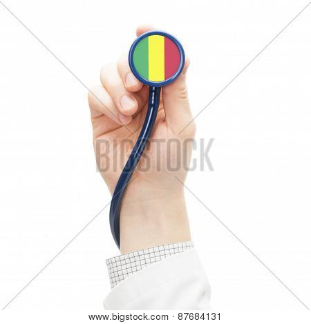 Stethoscope With National Flag Series - Mali