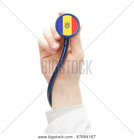 Stethoscope With National Flag Series - Moldova